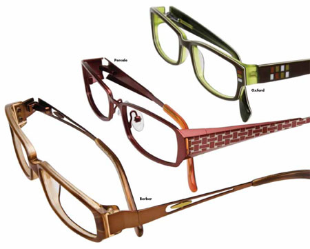 innovative patterns with moss textures or blackmerlot stripes on zyl frames and temple tips with julians signature herringbone pattern are used throughout - Zyl Frames
