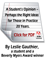 Perhaps the Right Ideas for Those in Practice 20 Years