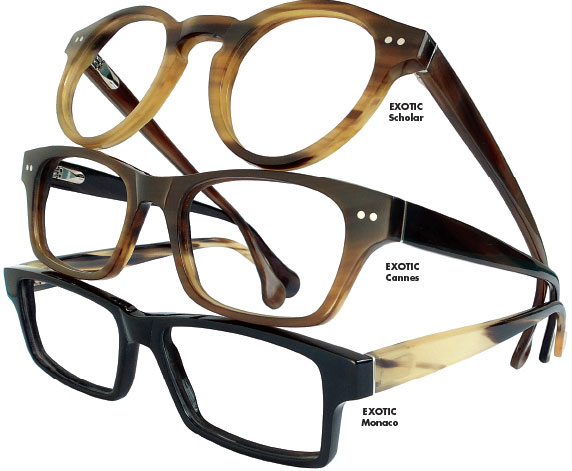 """80038f4a0e0 PHILOSOPHY  """"The exOtic collection epitomizes our passion to produce the  most beautiful eyewear of the utmost quality"""
