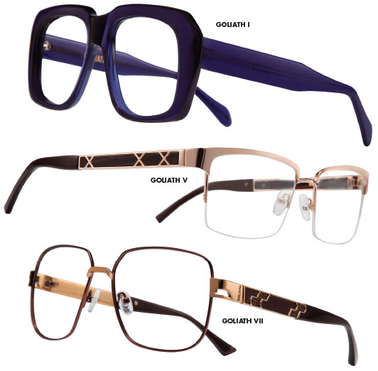 """8354361297 PHILOSOPHY  """"We created the Goliath brand for men who have the strength of their  convictions and who want to express this confidence through their eyewear"""
