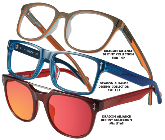 youthful colors and styling were inspired by a vibrant california beach culture says cliff alexander dragon global brand manager for marchon eyewear
