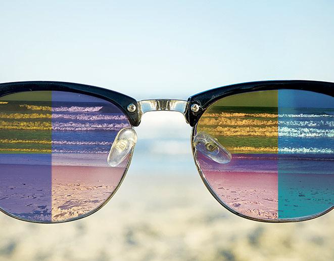 Pop Color Half Horn Rim Hipster 20s Rectangular Sunglasses