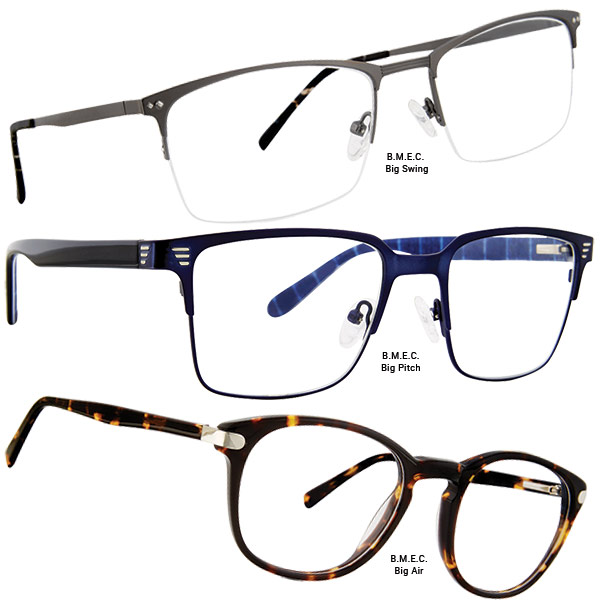 20e765b916 Modern Optical International expands its B.M.E.C. (Big Men s Eyewear Club)  Collection. Featuring six new styles for men who need a larger fit